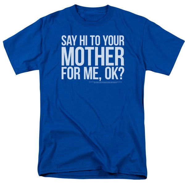 SNL/Hi Mother Short Sleeve Adult T-Shirt 18/1 in Royal