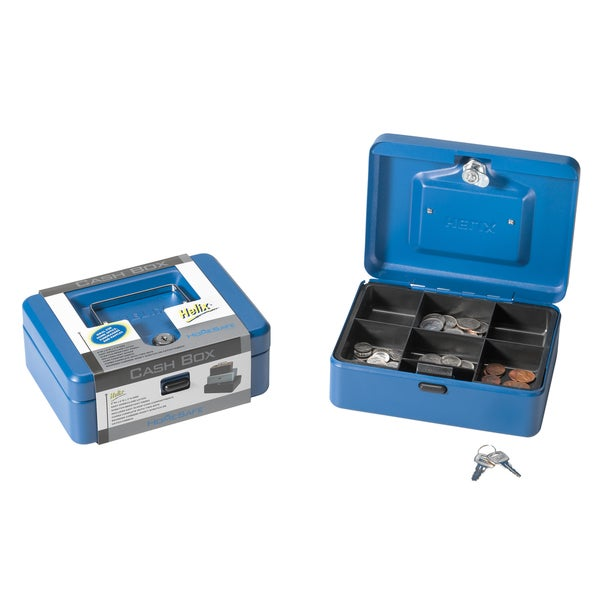 "Helix 81010 8"" Blue Cash Box"