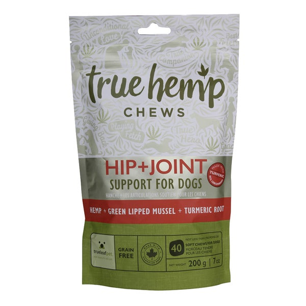 True Hemp All-Natural Dog Chews for Hip + Joint Support
