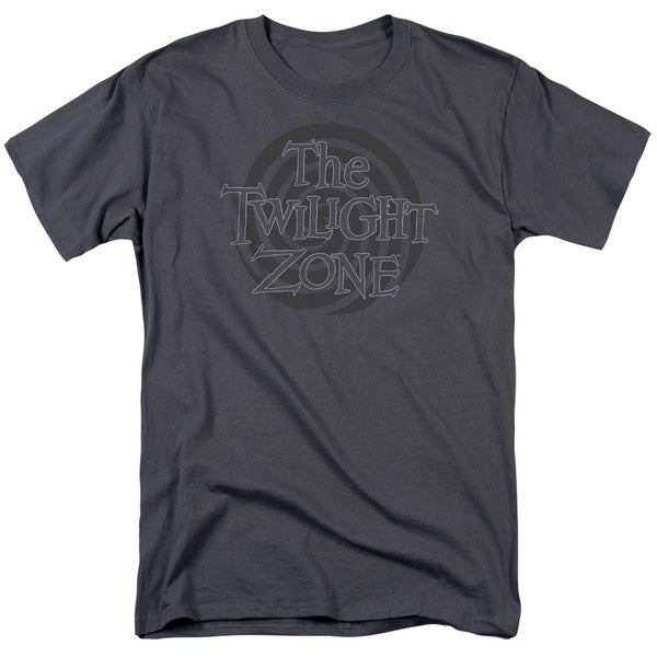 Twilight Zone/Spiral Logo Short Sleeve Adult T-Shirt 18/1 in Charcoal