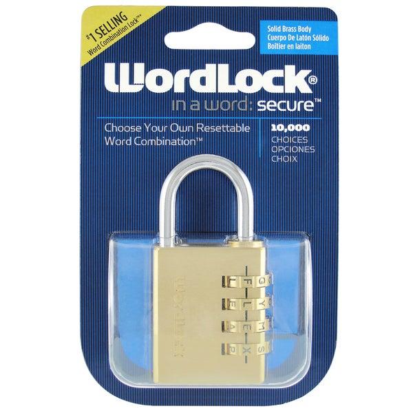 Wordlock Inc PL-056-SL Brass 4 Dial Sport Lock