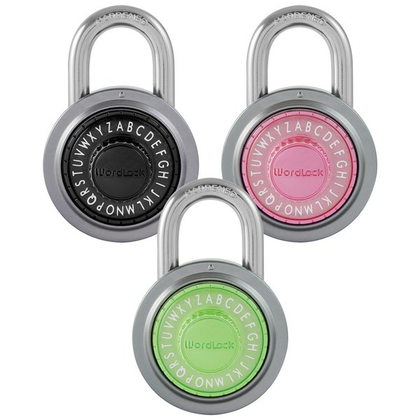 Wordlock Inc PL-109-A1 50 MM Text Padlock Assorted Colors