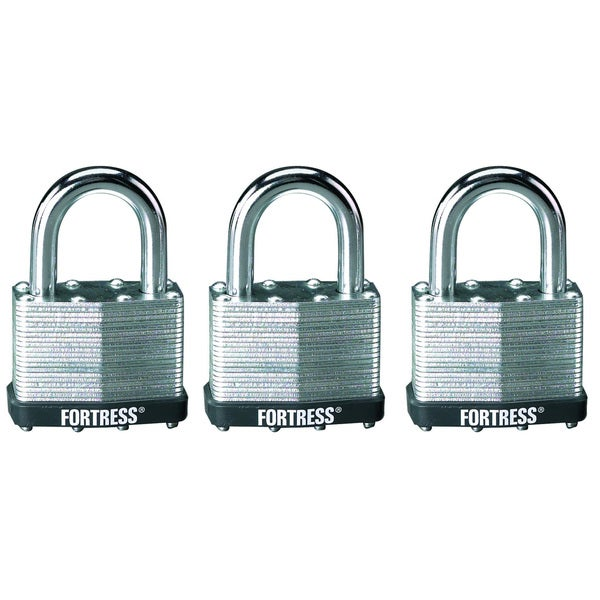 "Fortress 1805TRI 2"" Laminated Steel Padlock 3-count"