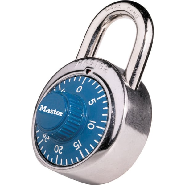 Master Lock 1506D Blue Combination Padlocks