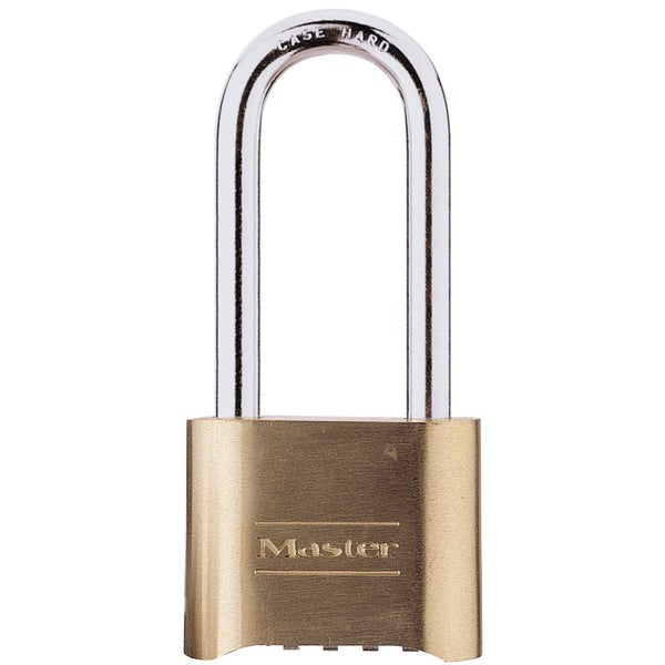 "Master Lock 175DLH 2"" Resettable Brass Combination Padlock"