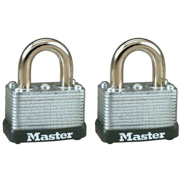 "Master Lock 22T 1-1/2"" No. 22 Warded Laminated Padlocks 2 Pack"