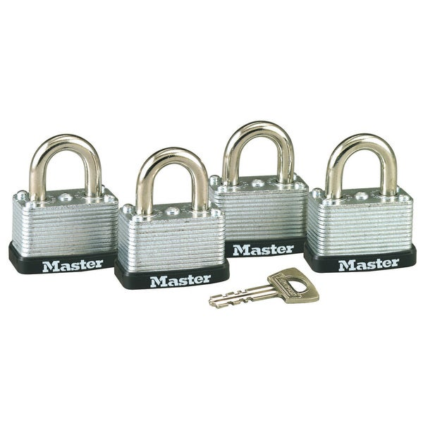 Master Lock 3009D No. 22 Warded Laminated Padlocks 4 Pack