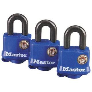 Master Lock 312TRI Weatherproof Padlock 3 Pack