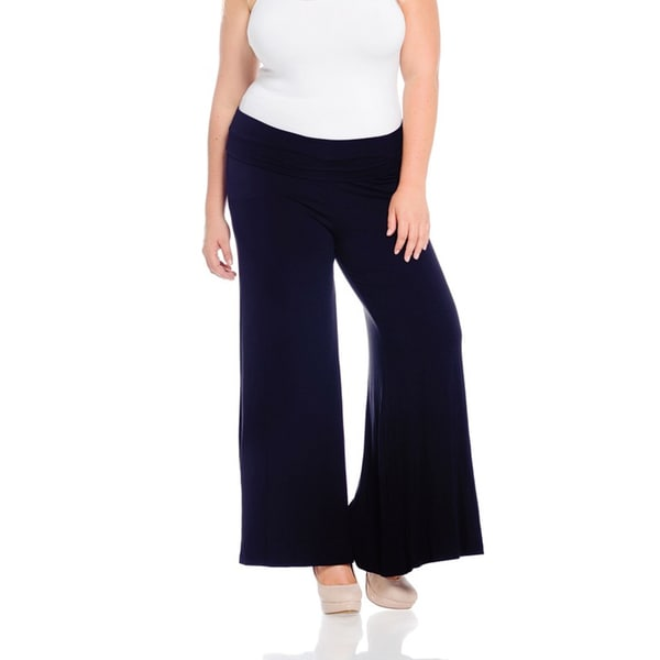 Women's Navy Plus-size Pants