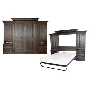 Pur By Bestar 115 Quot Queen Wall Bed Kit With Six Drawers
