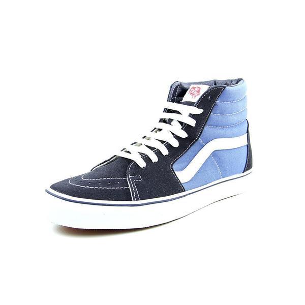 Vans Men's Sk8-Hi Blue Canvas Athletic Shoes