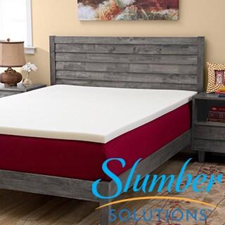 Slumber Solutions 2-inch Memory Foam Mattress Topper