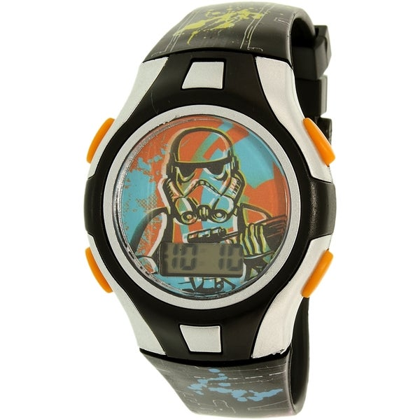 Disney Boy's Star Wars Black Plastic Quartz Watch