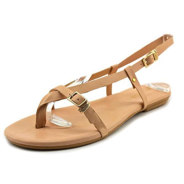J/Slides Women's 'Capri' Pink Leather Sling-back Sandals