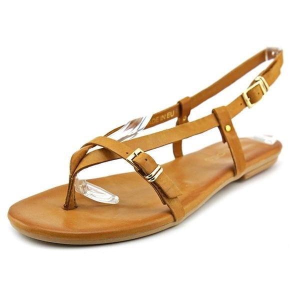 J/Slides Women's 'Capri' Brown Leather Sandals