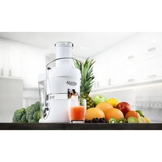 Jason vale 39 s fusion juicer classic red with booster for Alpine cuisine juicer