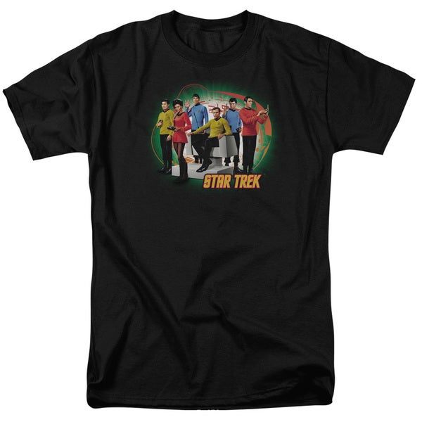 Star Trek/Enterprises Finest Short Sleeve Adult T-Shirt 18/1 in Black
