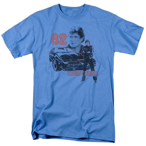 Knight Rider/1982 Short Sleeve Adult T-Shirt 18/1 in Carolina Blue