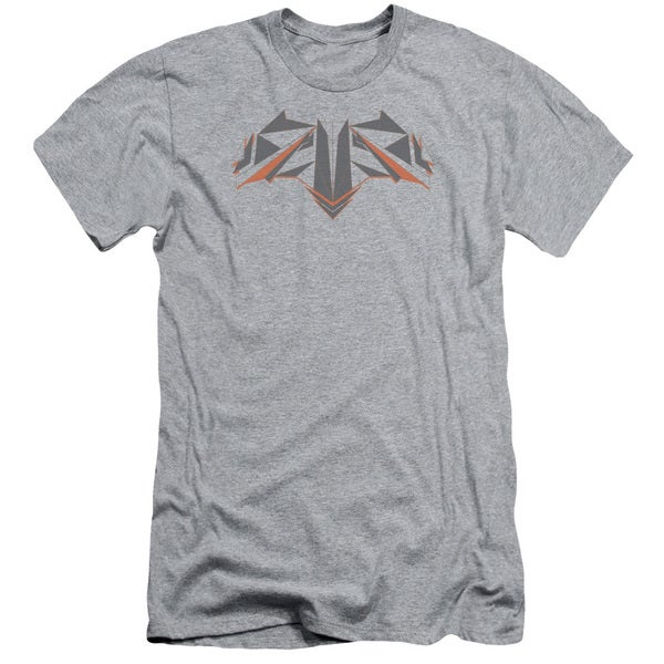 Batman V Superman/Tech Bat Logo Short Sleeve Adult T-Shirt 30/1 in Heather