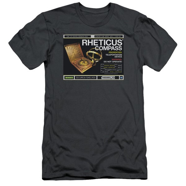 Warehouse 13/Rheticus Compass Short Sleeve Adult T-Shirt 30/1 in Charcoal