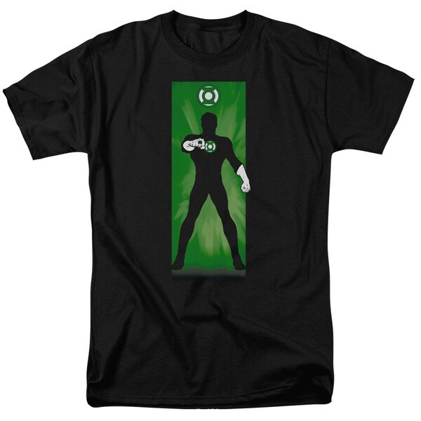 DC/Green Lantern Block Short Sleeve Adult T-Shirt 18/1 in Black
