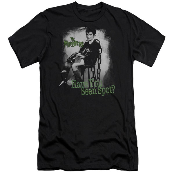 The Munsters/Have You Seen Spot Short Sleeve Adult T-Shirt 30/1 in Black