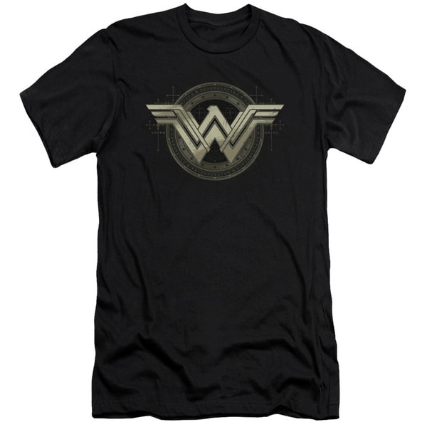 Batman V Superman/Ancient Emblems Short Sleeve Adult T-Shirt 30/1 in Black