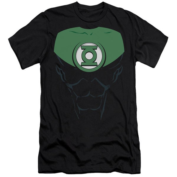 Green Lantern/Jon Stewart Short Sleeve Adult T-Shirt 30/1 in Black