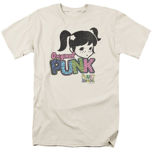 Punky Brewster/Punk Gear Short Sleeve Adult T-Shirt 18/1 in Cream