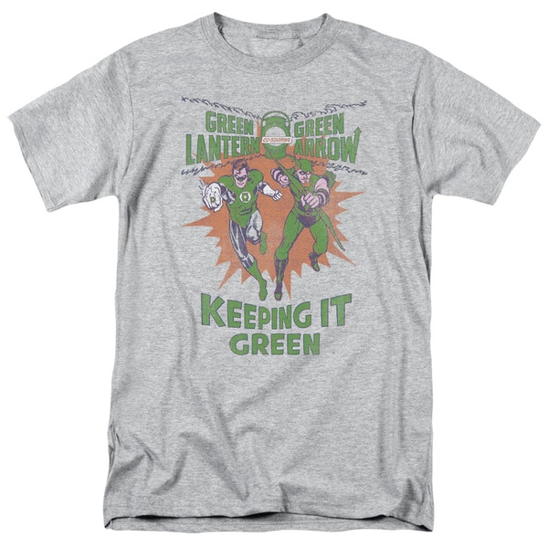 Green Lantern/Keeping It Green Short Sleeve Adult T-Shirt 18/1 in Athletic Heather