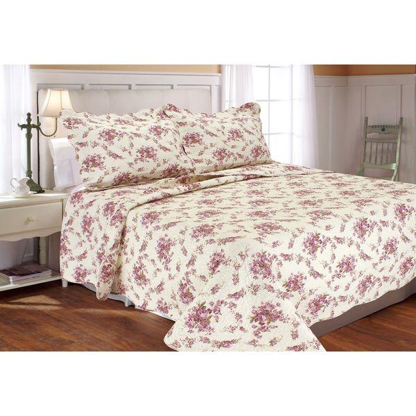 Vintage Rose Quilt Set