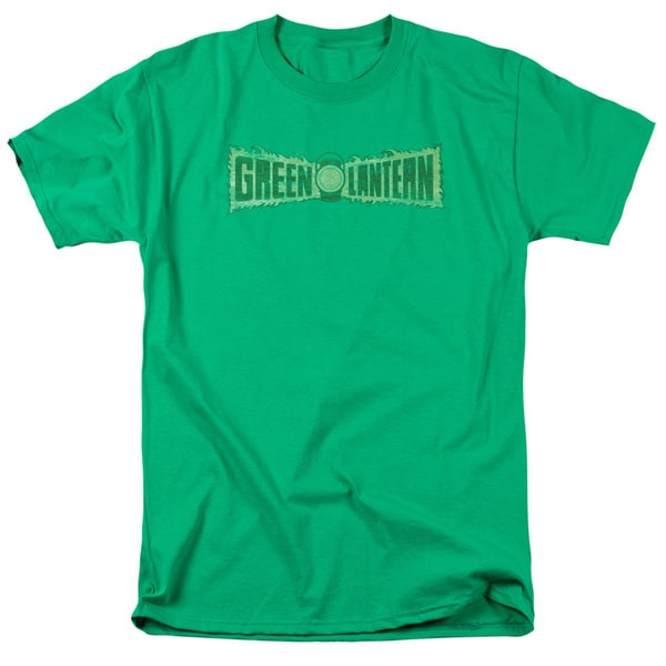 Green Lantern/Flame Logo Short Sleeve Adult T-Shirt 18/1 in Kelly Green