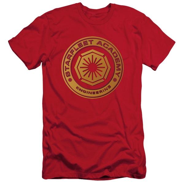 Star Trek/Engineering Short Sleeve Adult T-Shirt 30/1 in Red