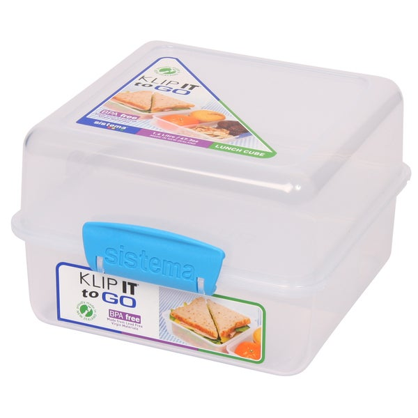 Sistema 21731 48 Oz Klip It Lunch Cube To Go Food Container