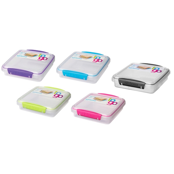 Sistema 21647 Klip It Sandwich To Go Box