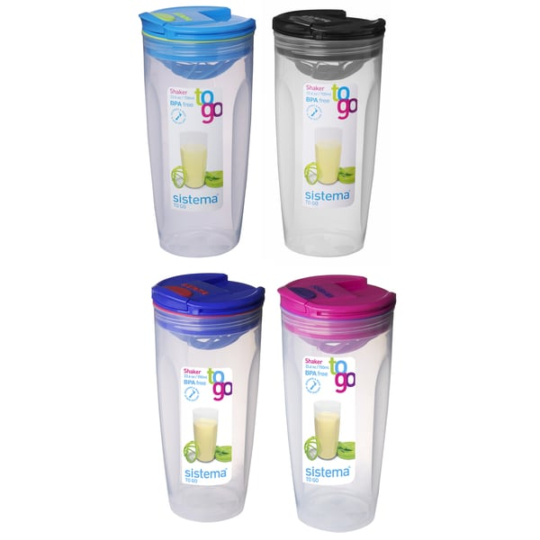 Sistema 21378 23.6 Oz Assorted Colors Shaker To Go
