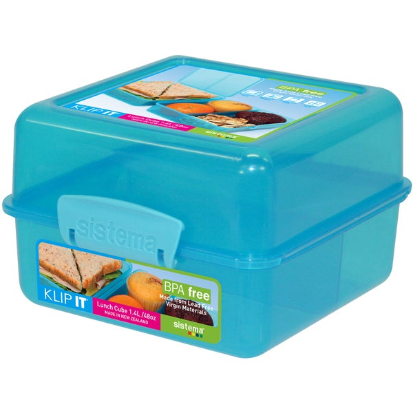 Sistema 1735 40 Oz Assorted Colors Klip It Lunch Food Storage Cube