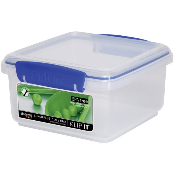 Sistema 1650 40 Oz Clear Rectangular Klip It Food Storage Container