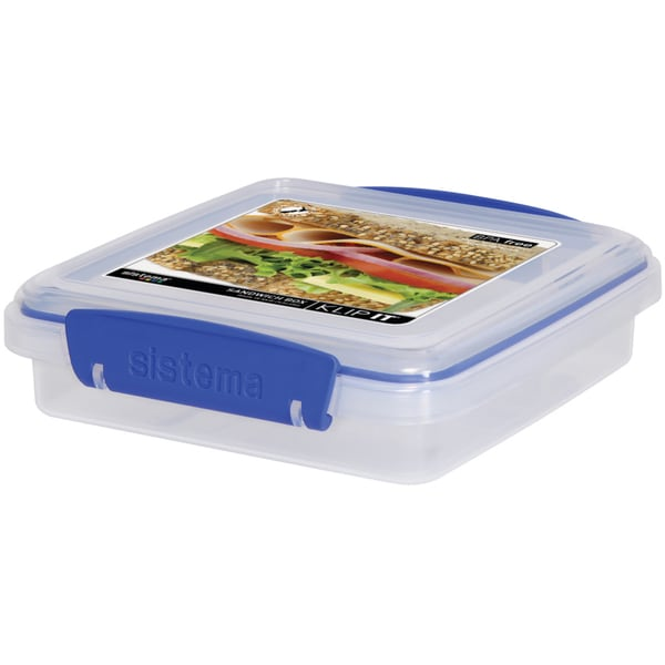Sistema 1645 15.2 Oz Clear Rectangular Klip It Sandwich Box