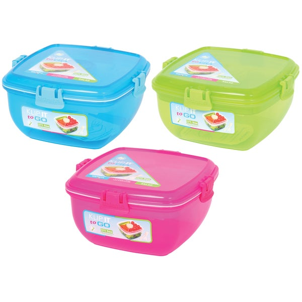 Sistema 1376-1 37 Oz Assorted Colors Salad To Go