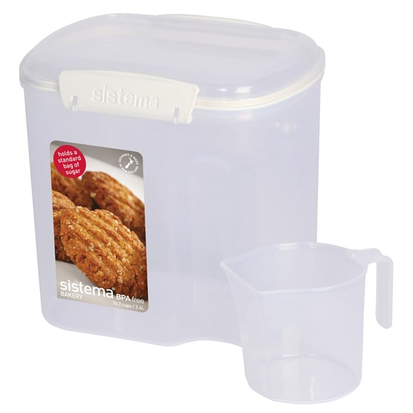 Sistema 1240 10.2 Cups Clear Rectangular Bakery Storage Container