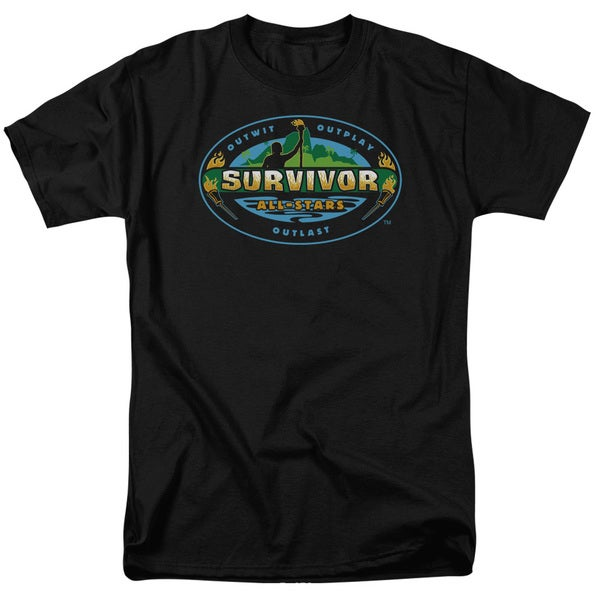 Survivor/All Stars Short Sleeve Adult T-Shirt 18/1 in Black