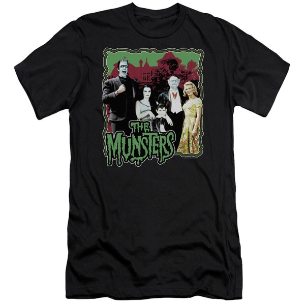 Munsters/Normal Family Short Sleeve Adult T-Shirt 30/1 in Black