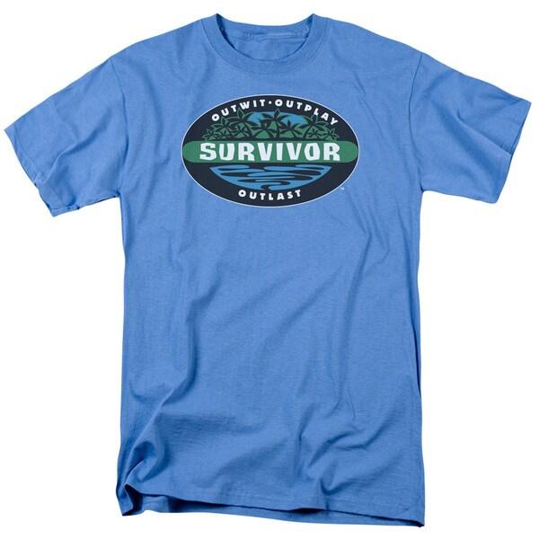 Survivor/Borneo Short Sleeve Adult T-Shirt 18/1 in Carolina Blue