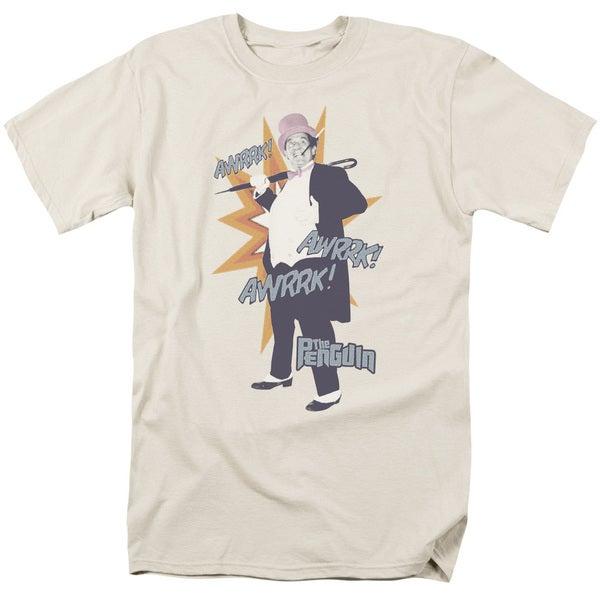Batman Classic Tv/Penguin Short Sleeve Adult T-Shirt 18/1 in Cream/Ivory