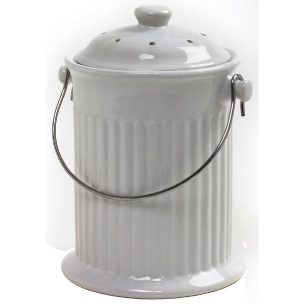 Norpro 93 1 Gallon White Compost Keeper Crock
