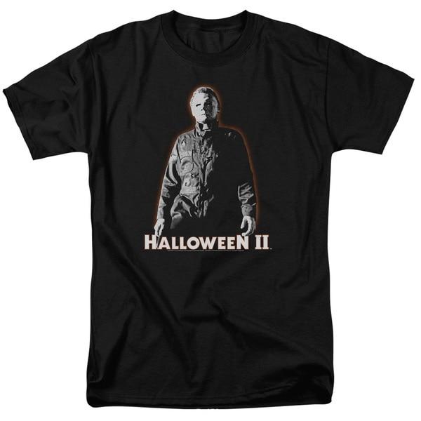 Halloween Ii/Michael Myers Short Sleeve Adult 18/1 in Black