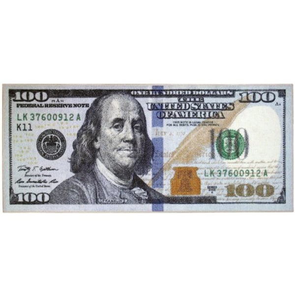 22-inch x 53-inch Hundred Dollar Bill Accent Rug