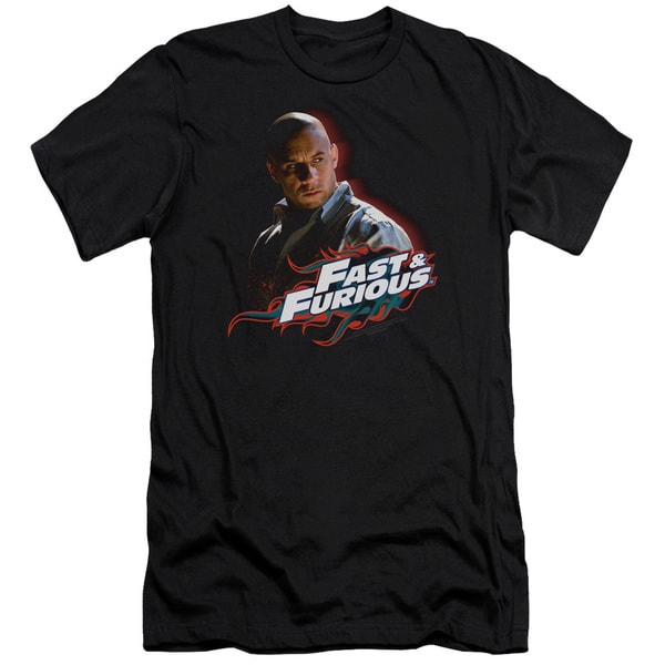 Fast & Furious/Toretto Short Sleeve Adult 30/1 in Black