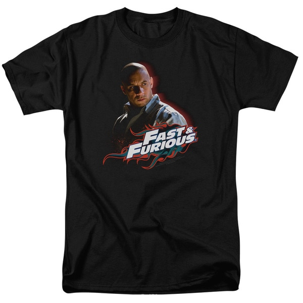 Fast & Furious/Toretto Short Sleeve Adult 18/1 in Black
